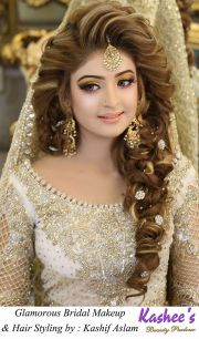 kashees beautiful bridal hairstyle