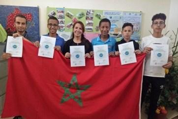 moroccan_team1_616485257 مشروع علمي لتلاميذ مغاربة بين الأفضل في العالم Actualités