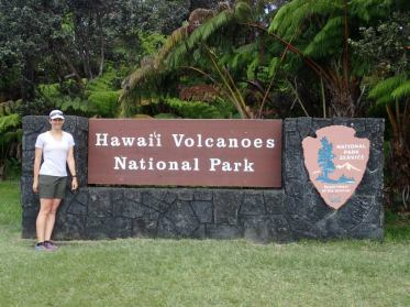 Entrance to Hawaii Volcanoes National Park, on our honeymoon