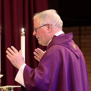Fr. Wagner saying mass