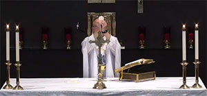 Elevation of the Eucharist at Mass