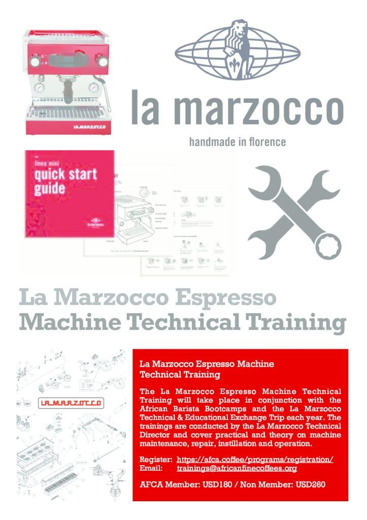 thumbnail of 1. La Marzocco Technical Training Flyer