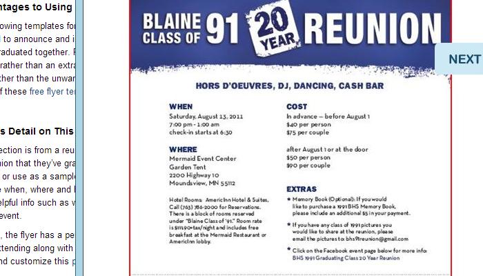 High School Reunion Flyer Templates Dolap Magnetband Co