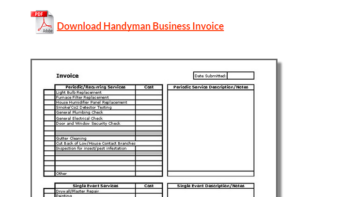 As a handyman, you hardly got any time to spare on tasks like payment and invoicing. 5 Handyman Invoice Template Af Templates