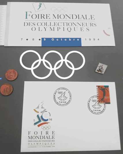 Cachet de la 1ère Foire Mondiale des Collectionneurs Olympiques à Lausanne 1994