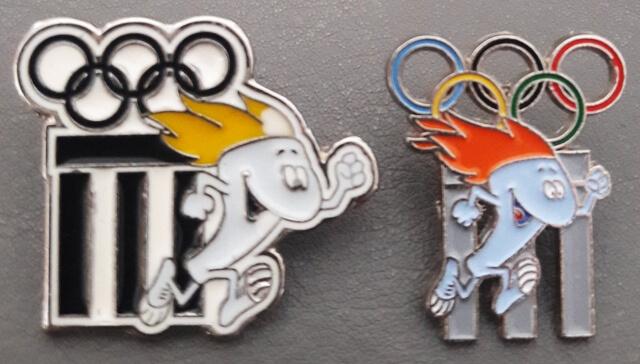1995 Lausanne pin's musée Olympique, celui de droite a été édité pour la foire