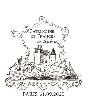 PATRIMOINE DE FRANCE EN TIMBRES, édition 2020
