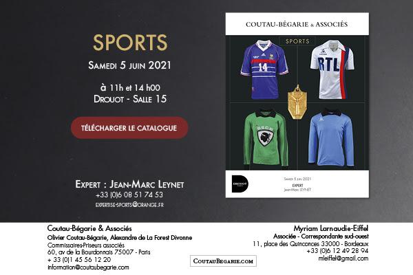 Vente aux enchères sports Coutau-Bégarie samedi 5 Juin 2021