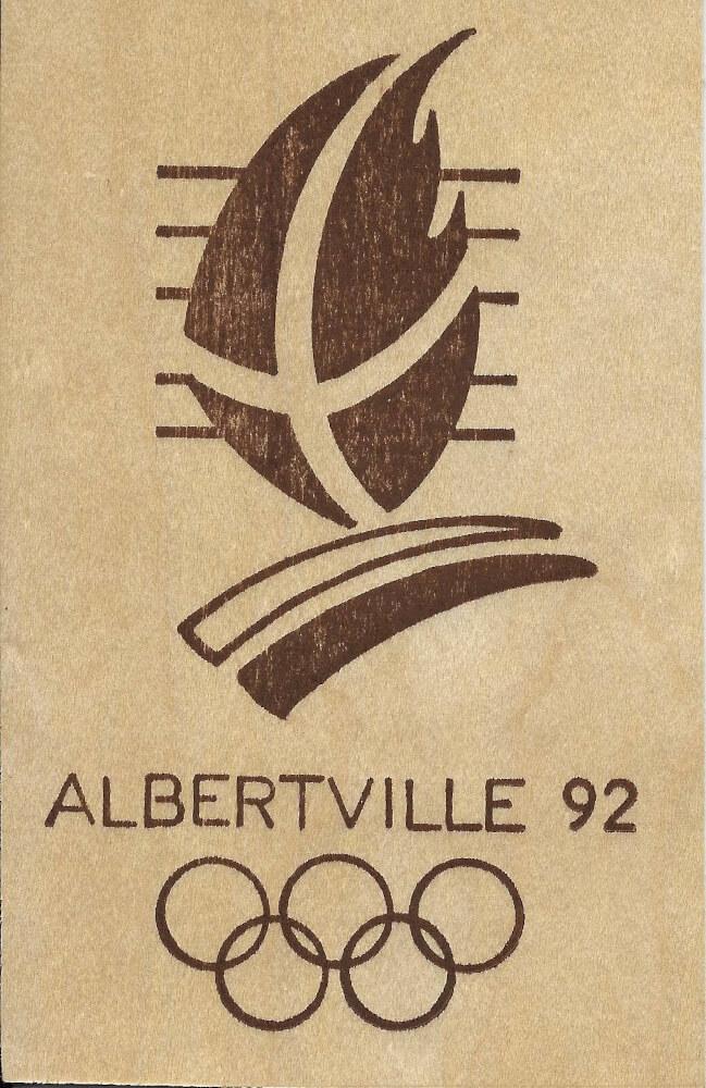 Albertville 1992 carte bois logo recto