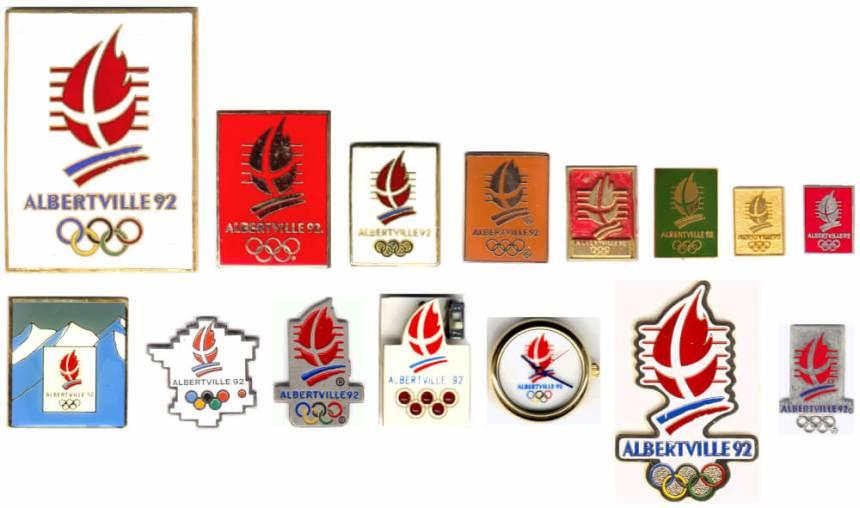 Albertville 1992 logo pins
