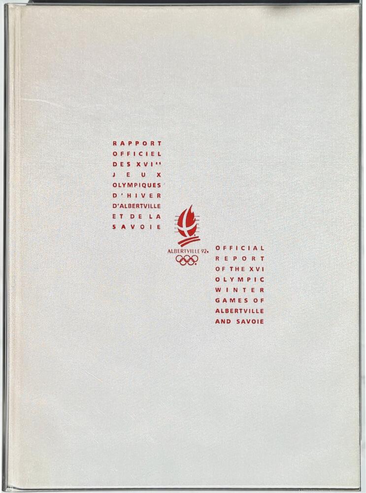Albertville 1992 logo rapport
