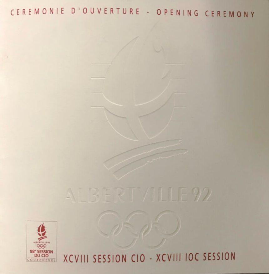 Albertville 1992 logo cérémonie d'ouverture de la session du CIO
