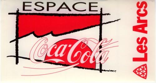 Sticker Coca-Cola station Les Arcs Club TOP
