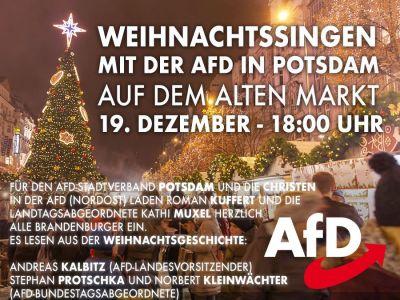 Weihnachtssingen am 19. Dez., Landtag Potsdam
