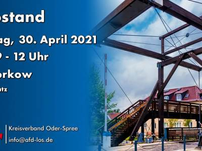 Infostand in Storkow am 30. April 2021