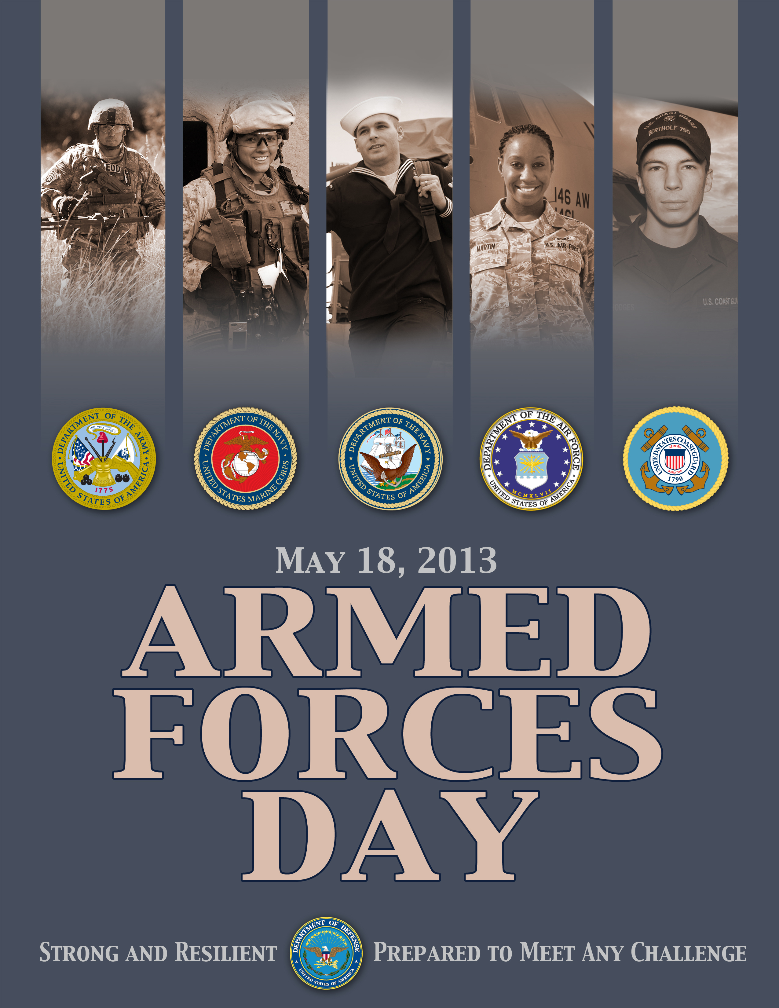 Poster for Armed Forces Day 2013, May 18