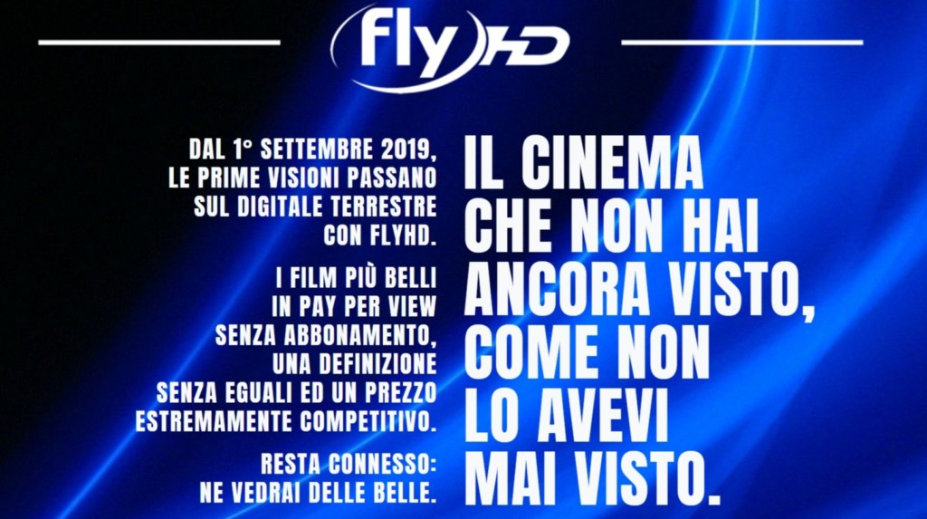 Fly HD: da settembre film in 4K-HDR su digitale terrestre