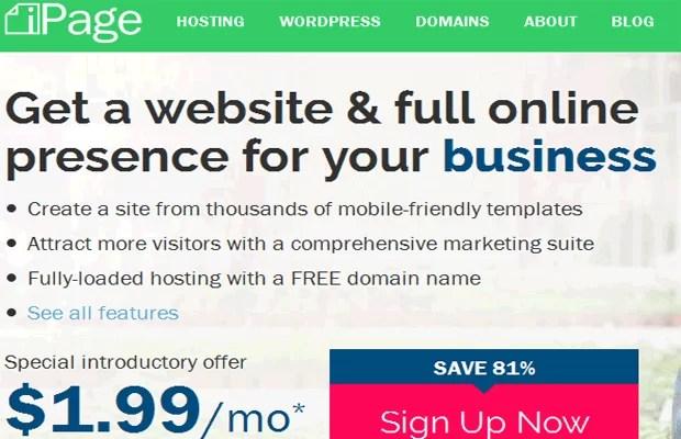 شركة استضافة المواقع اي بيج ipage webhosting