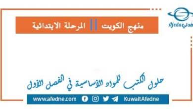 Photo of حلول الكتب لمواد المرحلة الابتدائية للفصل الأول 2021