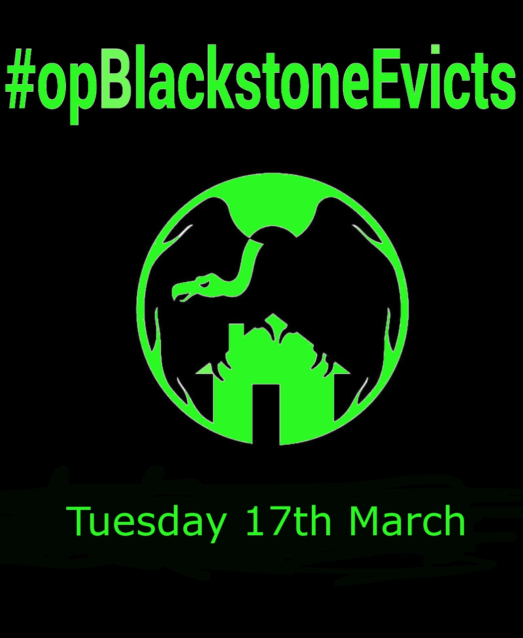 #opBlackstoneEvicts The PAH, together with collectives in New York and London, we increase the pressure to Blackstone