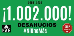 Desde 2008 se han producido 1.002.000 desahucios