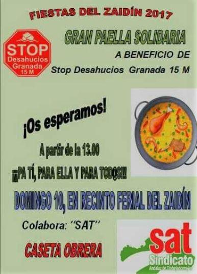 Comida solidaria Stop Desahucios Granada 15M