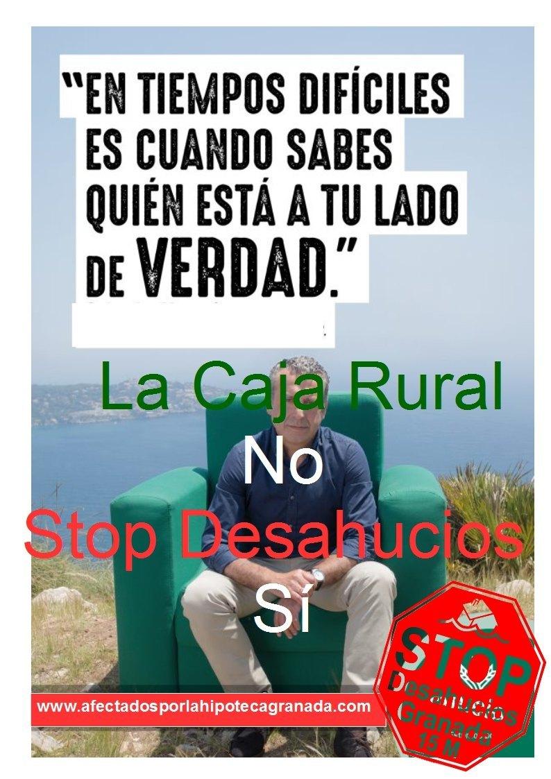 Caja rural Granada Desahucia. No confío en ella