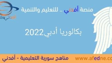Photo of أهم الملفات التعليمية والنماذج الإمتحانية بكالوريا أدبي 2022