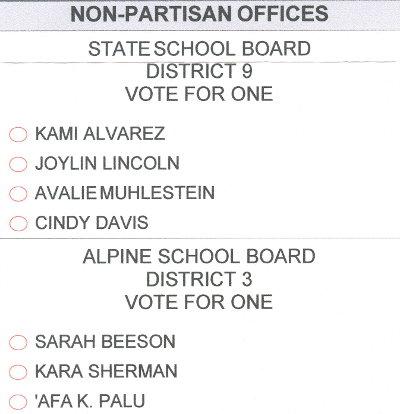 American Fork primary ballot