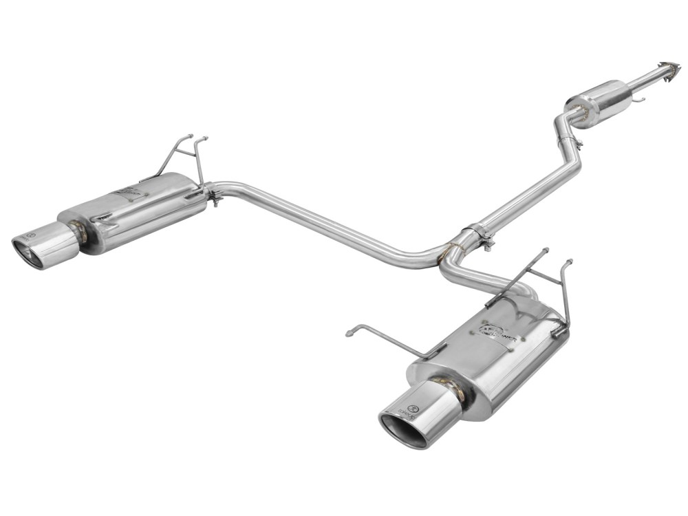 medium resolution of takeda 2 1 4 to 2 304 stainless steel cat back exhaust system afe power