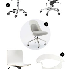 Clear Acrylic Swivel Office Chair Rattan Kitchen Chairs Modern White And Desk A Feteful Life