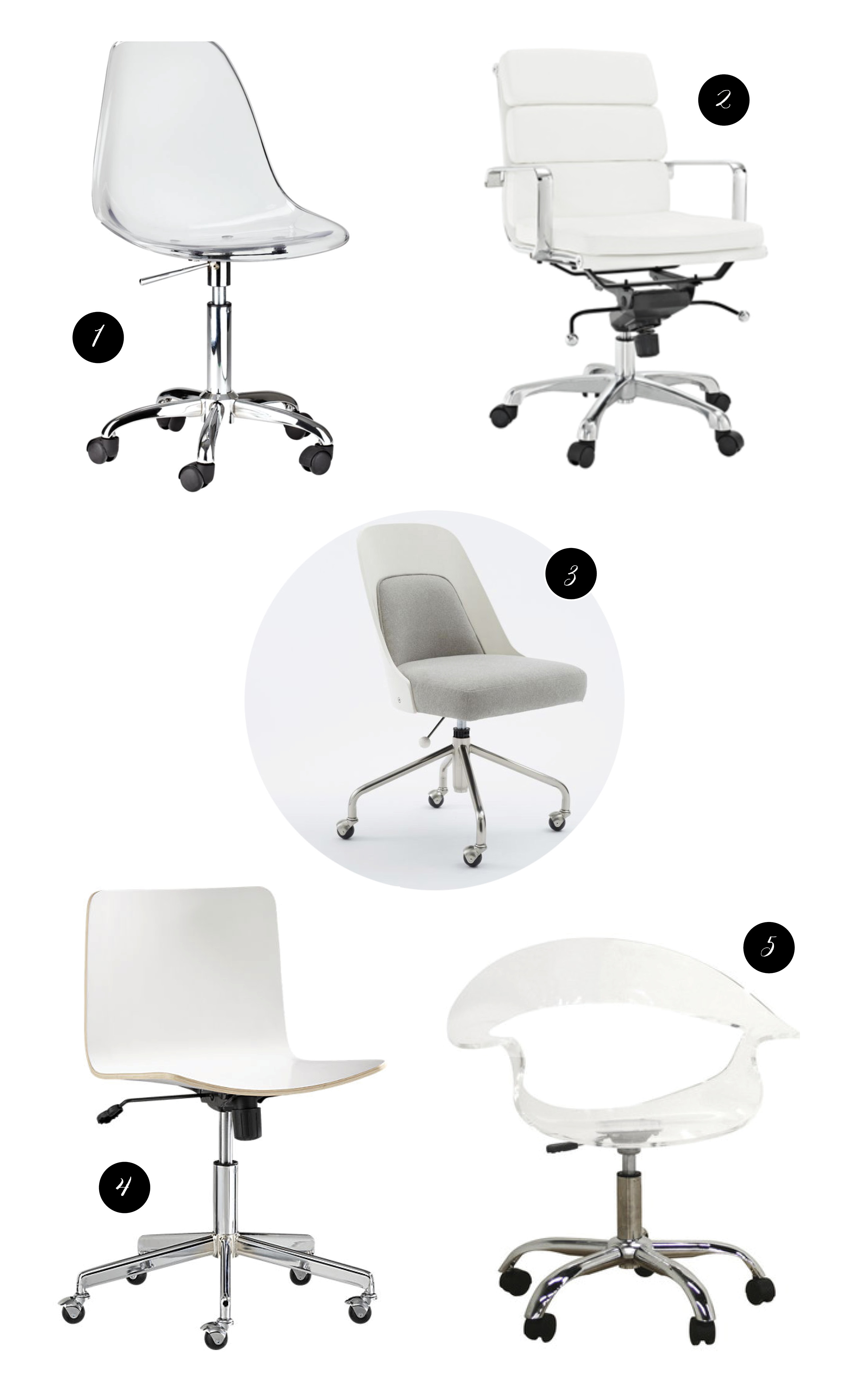 Acrylic Chair Modern White And Acrylic Swivel Desk Chairs A Feteful Life