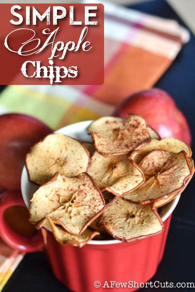 A healthy fall snack! You will never imagine just how simple it is to whip up this Simple Apple Chips Recipe