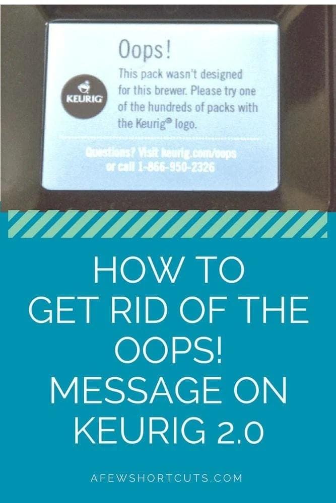 Keurig Error Message : keurig, error, message, Oops!, Message, Keurig, Shortcuts