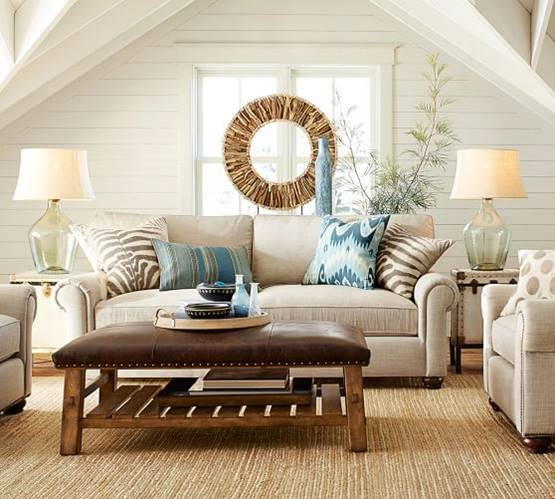 Pottery Barn Inspired Living Room For Less  A Few Shortcuts