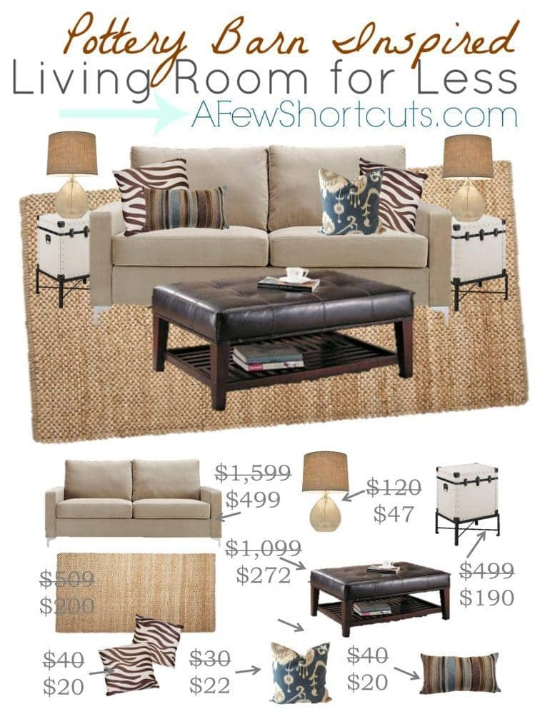 pottery barn pictures of living rooms red brown and green room ideas inspired for less a few shortcuts do you love home decor but not the price tag check out this