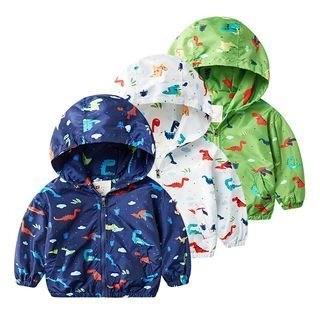 DEARIE Kids Printed Hooded Zip Jacket N/A