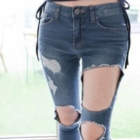 Marlangrouge Low-Rise Cutout-Trim Skinny Jeans