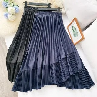 englard Asymmetric Pleated Skirt