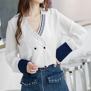 Baabi Double Breasted Blouse