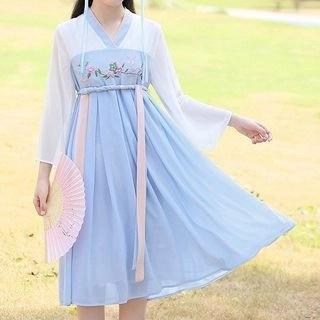 YICON Long-Sleeve Midi Hanfu Dress