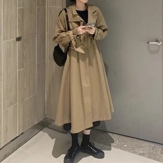 Magma Long Trench Coat