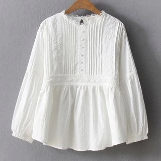 Suzette Plain Embroidered Blouse