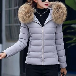 Aicing Hooded Padded Coat