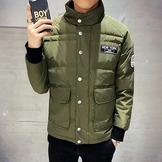 Stand-Collar Padded Jacket Army Green