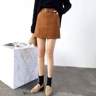Stitching A-Line Skirt