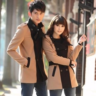 Igsoo Couple Matching Double-Breasted Coat N/A