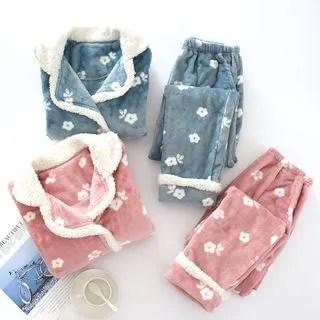 Pajama Set: Fleece Top + Pants