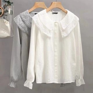 Suzette Double Lace Collar Blouse