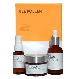 MISSHA - Bee Pollen Renew Set: Ampouler 40ml + Cream 50ml + Treatment 30ml 3pcs